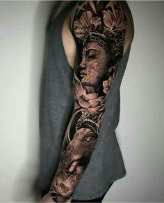 tattoorealistic on Picoji Left Arm Tattoos, Tattoos 3d, Cool Forearm Tattoos, Asian Tattoos, Unique Tattoos, Body Art Tattoos, Tattoos For Guys, Tattoo Art, Tatoos