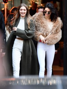 Kendall Jenner and Gigi Hadid Twin the Victoria's Secret Way in Paris