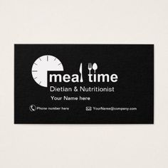 Business card  for Dietitian & Nutritionist - diy cyo personalize design idea new special