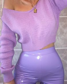 pastel outfit | liquid leggings | purple outfit | spring outfit | #ootd