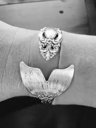 Image result for silverware bracelet with pearls