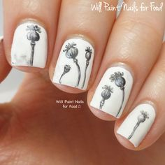 Will Paint Nails for Food: The Digit-al Dozen Does Nature, Day One: Poppy Seed Pods