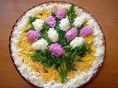 Mimoza salata. Neizostavni deo svečane trpeze.