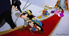 defend the princess by twisted-wind on DeviantArt. Mickey and Oswald as Musketeers, defending Princess Minnie and Princess Ortensia! Disney Au, Disney And More, Disney Fan Art, Disney Girls, Disney Love, Disney Magic, Disney Mickey, Walt Disney, Disney Stuff