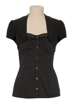 Cap Sleeve Dot 2Fer Top - maurices.com #trixxi