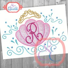 INSTANT DOWNLOAD Mermaid Princess Frame Applique Design For Machine Embroidery by SewEmbroidable on Etsy
