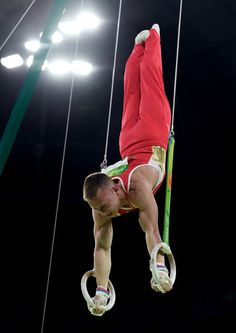 Denis Abliazin of Russia competes in the Men's Rings Final on day 10 of the Rio 2016 Olympic Games at Rio Olympic Arena on August 15, 2016 in Rio de Janeiro, Brazil.