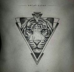 By Emrah Ozhan | #Blackwork #Tiger #BlackworkTattoo #Tattoo #Dotwork…