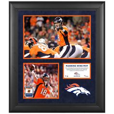 """Peyton Manning Denver Broncos Fanatics Authentic Framed 20"""" x 24"""" 2013 NFL MVP Photograph Collage with Game-Used Ball - $119.99"""
