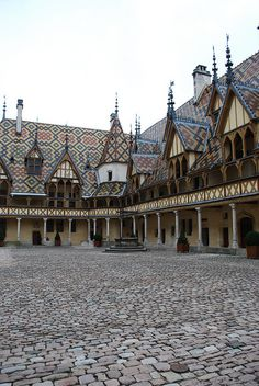Hospices de Beaune - Bourgogne, France I think that the Bourgo's came from here to Canada in the 1500's --could be wrong though.