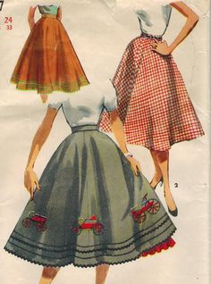 Simplicity 4957 Vintage Sewing Pattern Misses Skirt with Petticoat Size Waist 24 Vintage Dress Patterns, Vintage Skirt, Vintage Dresses, Vintage Outfits, Floral Dresses, Vintage Clothing, Dress Robes, Dress Outfits, Fashion Outfits