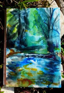 Watercolors by Celia Blanco: Morning Stream IIwatercolor sketch on paper 18 x ...