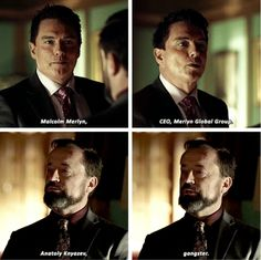"""""""Anatoly Knyazek, ganster"""" - Malcolm and Anatoly first meet #Arrow"""