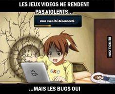 Les jeux vidéos ne rendent pas violents...