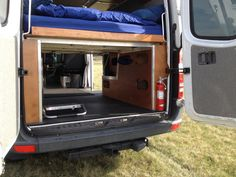 DIY folding Sprinter bed.