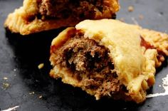 Bridies: traditional Scottish street food. Had my first one at a Celtic clan gathering; wonderful!