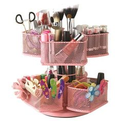 Nifty Cosmetic Organizing Carousel Pink Makeup Organizer, New for Like the Nifty Cosmetic Organizing Carousel Pink Makeup Organizer, New? Cleaning Hacks Tips And Tricks, Tips & Tricks, Silver Makeup, Pink Makeup, Makeup Storage, Makeup Organization, Bathroom Organization, Bathroom Storage, Organized Bathroom