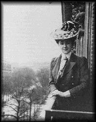 Sixteen year old Agatha in Paris.  She went from the Victorian age...to seeing a man walk on the moon!