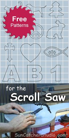 Beginner (kid friendly), and intermediate scroll saw patterns. Simply click to enlarge and then print. Note: Most browsers allow an image to be resized or scaled while printing. For a more advanced project, many of these patterns can be converted to puzzles by marking additional lines on the patterns using a jigsaw puzzle pattern layout. …