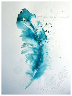 GICLEE FINE ART FEATHER PRINT ~ printed from the original artwork  Signed and dated by the artist, Roberta Orpwood    Feathers, for me, represent