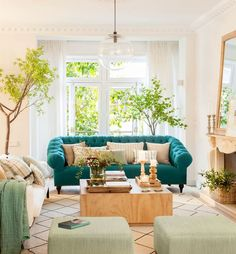Tríos de colores que funcionan para transformar tu salón