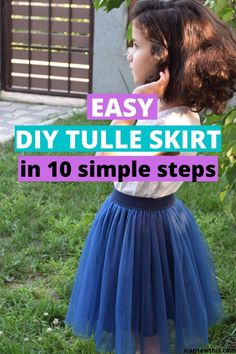 This DIY tulle skirt is definitely one of the most fun pieces in my wardrobe! Tulle Skirt Kids, Tutu Skirts, Diy Tutu, Tulle Tutu, Tulle Skirt Tutorial, How To Make Skirt, Tulle Flower Girl, Diy Dress, Dress Sewing