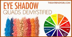 Eye Shadow Quads. This has to be the best tutorial website for eyeshadow for beginners that I have EVER found.