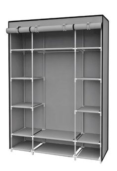 Sunbeam High Quality Free Standing Storage Closet With Shelving Heavy Duty Steel Frame And Non Woven Material Provides Ample Space 13 Shelves
