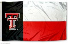 Texas Tech State Flag, how cool is this?! #TTAA #TexasTech #SupportTradition