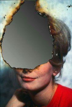 "artistiq-ue: ""Self-Portrait of You + Me (Catherine Deneuve), August 2007 — Douglas Gordon "" Photography Projects, Creative Photography, Portrait Photography, School Photography, Catherine Deneuve, Distortion Photography, Matthieu Bourel, Douglas Gordon, Experimental Photography"