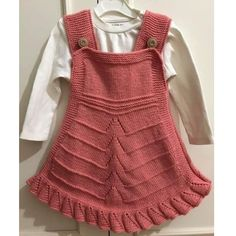 Valon Süslemeli Ajurlu Çocuk Jilesi Yapımı. 3 yaş Love Knitting Patterns, Knitting For Kids, Free Knitting, Motif Kimono, Moda Emo, Baby Sweaters, Little Girl Dresses, Baby Dress, Knit Crochet