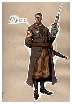 The Medic - Team Fortress 2 - Moby Francke Character Concept, Character Art, Concept Art, Character Design, Character Costumes, Reference Manga, Team Fortress 2 Medic, Team Fortess 2, Cthulhu