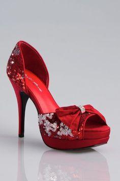 Zapatos de Novia para matrimonio rojo