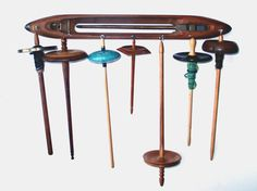 The Spindle Boat: Antique Boat Shuttle Drop Spindle by FiberQuirks