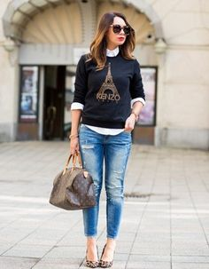 Mariann Mezo: 11 Clever Jeans-Based Outfits to Copy Now : Lucky Magazine