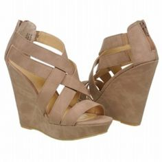 SALE - Chinese Laundry Major Crush Wedge Heels Womens Taupe Suede - Was $79.00 - SAVE $8.00. BUY Now - ONLY $71.10