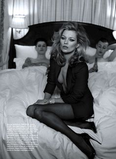 kate: post threesome. long legs, icon, fashion, peterlindbergh, model, peter lindbergh, katemoss, ash stymest, kate moss