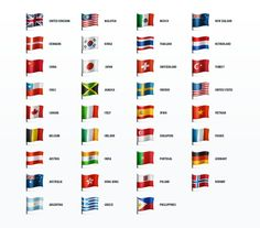 Country Flags Icon Set by Web Icon Set on Creative Market
