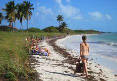 Sandspur Beach at Bahia Honda State Park in the Florida Keys.