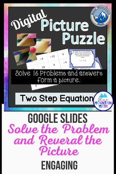 Looking for a fun way to practice Two Step Equations with an engaging activity? This activity includes 16 problems in google slides. Once they have their answer, they will copy the picture on the slide to their answer sheet. When they have solved all the problems, a picture will appear. Great practice for distance learning and classroom as well. Or assign for homework.