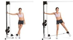 Best lower body exercises on cable machine – Leg workout on crossover machine at gym Leg And Glute Workout, Bum Workout, Toning Workouts, Workout Plans, Woman Workout, Workout Ideas, Workout Challenge, Cable Machine Workout, Cable Workout