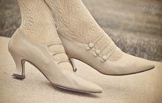 Old Edwardian shoes -- http://quietudeblog.blogspot.com/2011/07/edwardian-style-heels.html