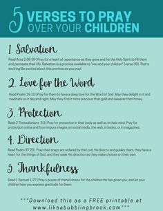 Prayers for your children | Praying | Bible verses | Bible Study