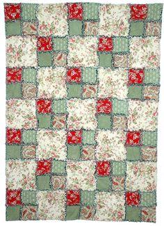 Easy Quilt Patterns: Easy Rag Quilt Pattern