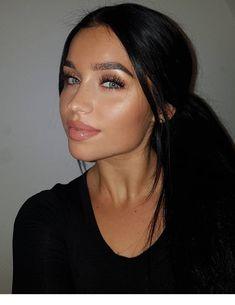 Natural Hair Mask, Natural Makeup, Natural Hair Styles, Dark Hair Makeup, Natural Beauty, Brunette Makeup, Makeup Eyes, Eyebrow Makeup, Beauty Makeup