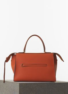 Céline Medium Ring Handbag in Burnt Orange Bullhide Calfskin. Maryam · Celine  Spring 2015 544d4f221a928