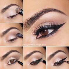 Eyeliner con purpurina por Maryam Maquillage