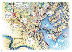 Tokyo Sanpo - Florent Chavouet map