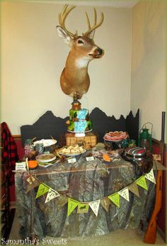 Samantha E's Birthday / Hunting - Photo Gallery at Catch My Party Hunting Birthday, 7th Birthday, Birthday Parties, Dessert Table, Photo Galleries, American, Party, Jackson, Painting