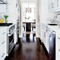 115 best galley only kitchens images in 2019 modern kitchens rh pinterest com